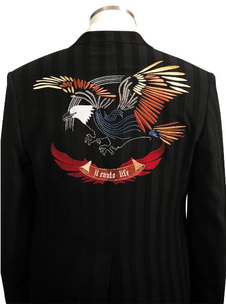 SKU#BV4567 Mens High Fashionable Long Zoot Suit Eagle $175
