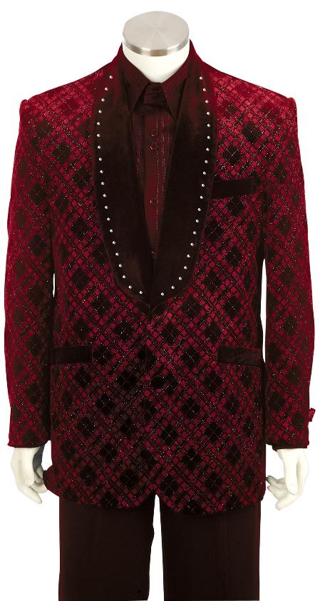 SKU#RV6527 Mens Fashionable red Zoot Suit $175
