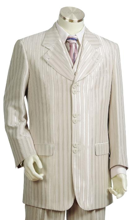 SKU#NF5524 Mens Fashion Vested Silver Zoot Suit $175