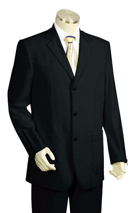 SKU#UF6032 Mens Fashion Black Zoot Suit