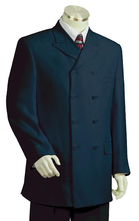 SKU#KZ7120 Mens High Fashion Navy Zoot Suit