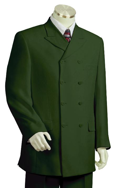 SKU#TX8290 Mens Fashionable Olive 100% Poly Zoot Suit $225