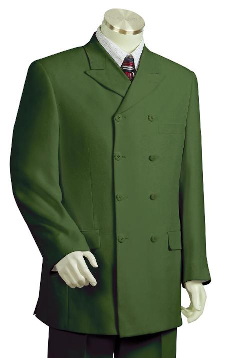 SKU#FP7213 Mens Stylish Olive Zoot Suit $225