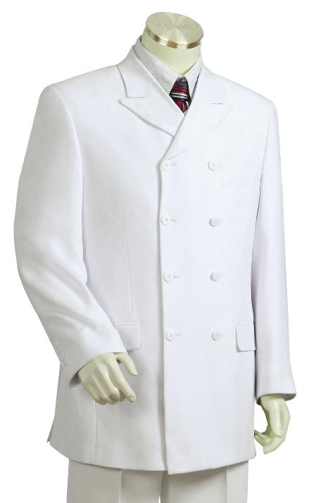 SKU#HY2078 Mens Fashionable White Zoot Suit $250