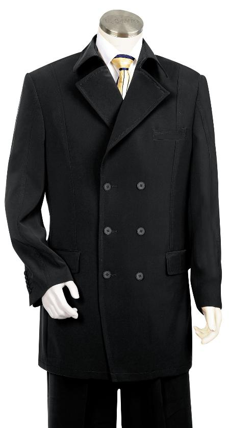 SKU#PH4530 Mens High Fashion Black Zoot Suit