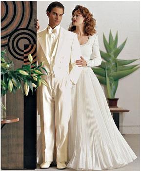 SKU#ER9824 Mens Ivory ~ Cream OFF White Tailcoat Long Tuxedo Suit Wedding look