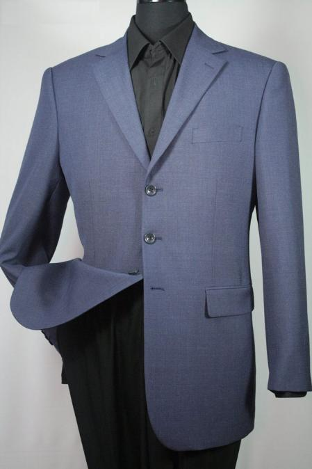 SKU#HT6715 Mens 100% Wool 3 Button Sport Jacket Ink Blue $125