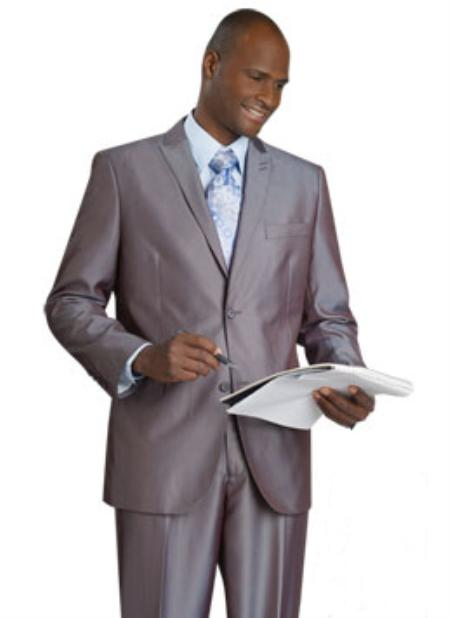 SKU#RH5530 Mens 2 Button Vented Jacket With Pleated Pant Executive Full Cut Suits Grey $139