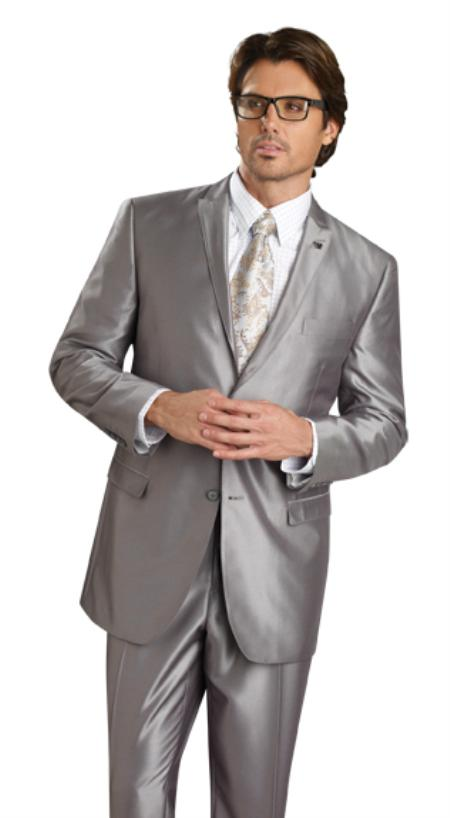 SKU#FU7887 Mens 2 Button Vented Jacket With Pleated Pant Executive Full Cut Suits Black $139