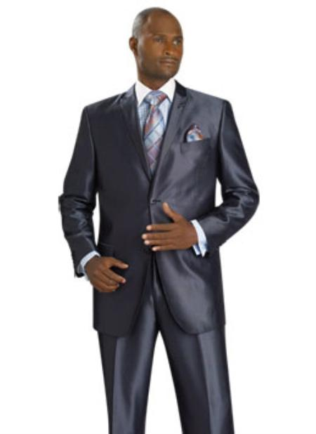 MensUSA.com Mens 2 Button Vented Jacket With Pleated Pant Executive Full Cut Suits Grey(Exchange only policy) at Sears.com