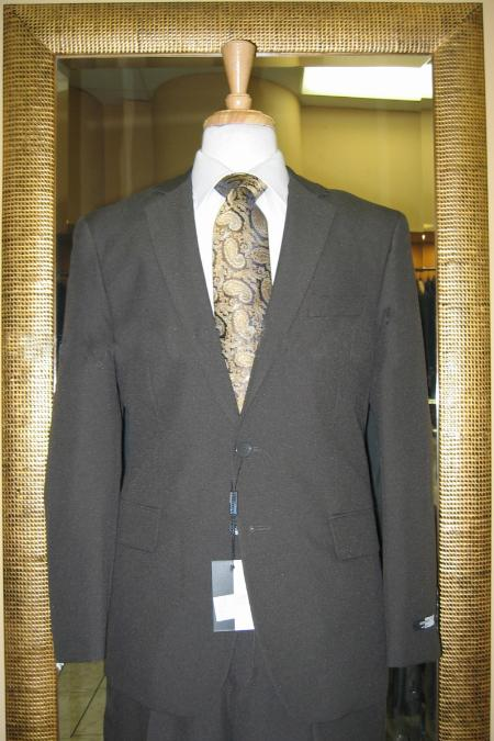 SKU#FK6720 Mens 2 Button Olive Discounted affordable clearance saleCheap Suit $79