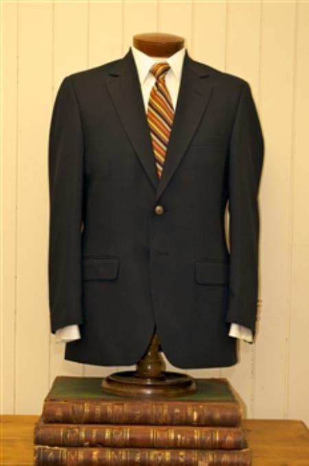 MensUSA.com Mens 2 Button Single Breasted Wool Suit Black(Exchange only policy) at Sears.com