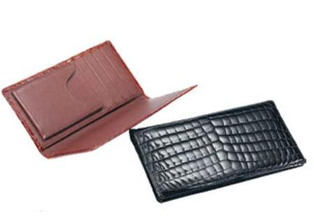 SKU#RD6300 Ferrini Crocodile Checkbook $230