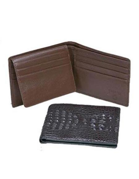 SKU#GN9210 Ferrini Hornback Crocodile Billfold