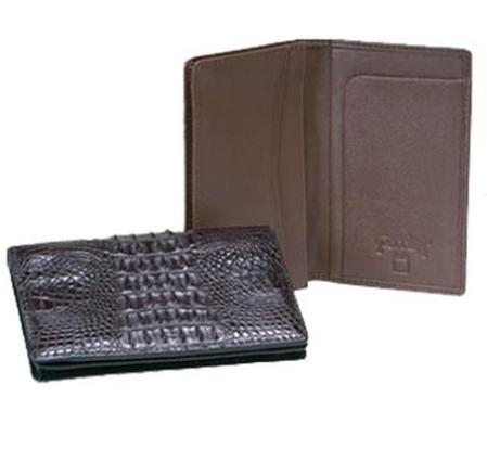 SKU#VT5543 Ferrini Hornback Crocodile Card Holder $249