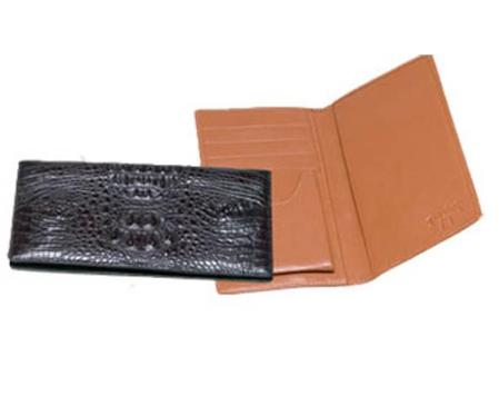 SKU#VF5300 Ferrini Hornback Crocodile Checkbook