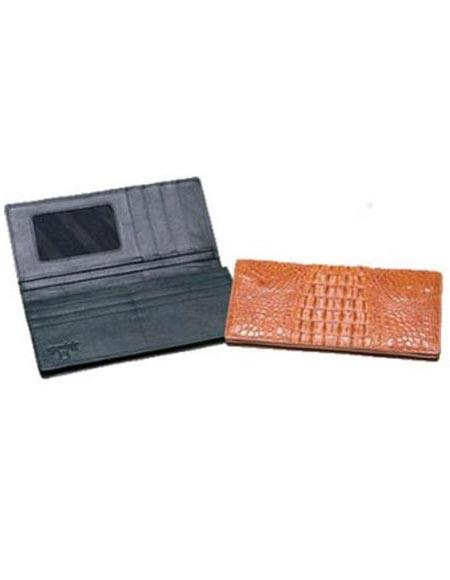 SKU#VX3412 Ferrini Hornback Crocodile Checkbook $190