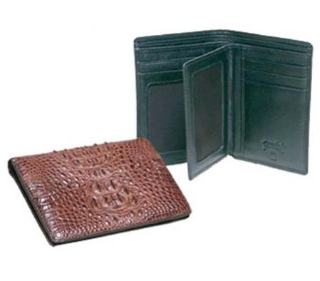 SKU#RS6003 Ferrini Hornback Crocodile Euro Billfold $142