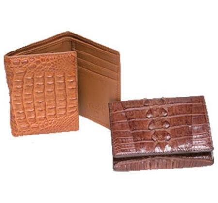 SKU#JN6720 Ferrini Hornback Crocodile Trifold Wallet $172