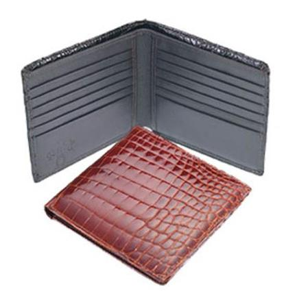 SKU#VR6333 Ferrini Mens Crocodile Hipster Wallet  $210