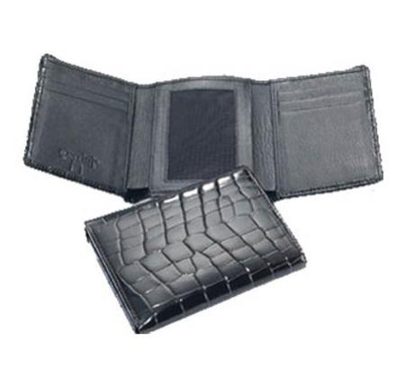 SKU#VL5639 Ferrini Mens Crocodile Trifold Wallet $220
