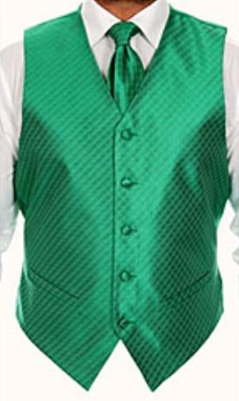 Four-piece Green Vest Set