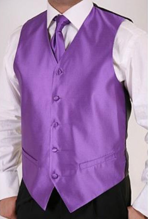 SKU#GK7845 Mens Purple 2-piece Vest Set
