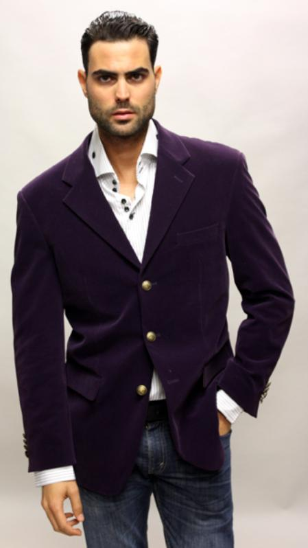 SKU#FP6388 Palace Color Purple Sport Coat Feel Very Nice For All Occasion Velvet Fabric $500