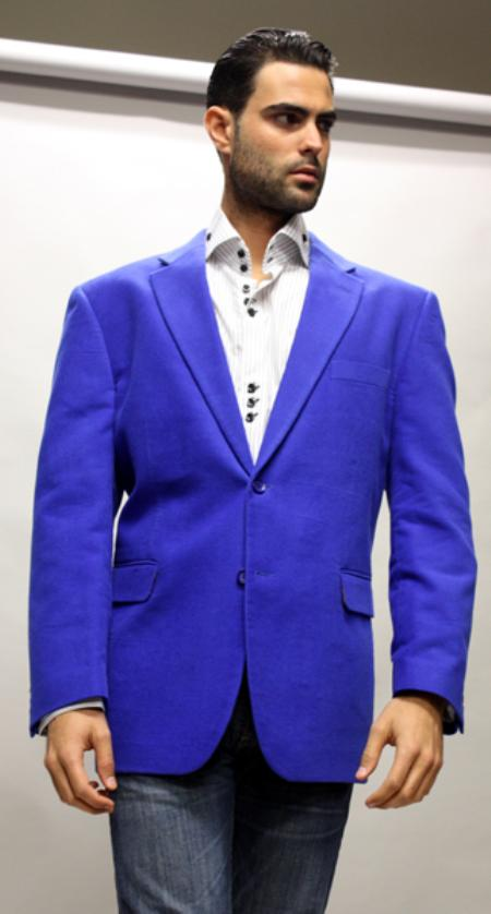 SKU#BK7745 Royal Sport Coat Its One of a Kind Super 150s For All Occasion Velvet Fabric $139