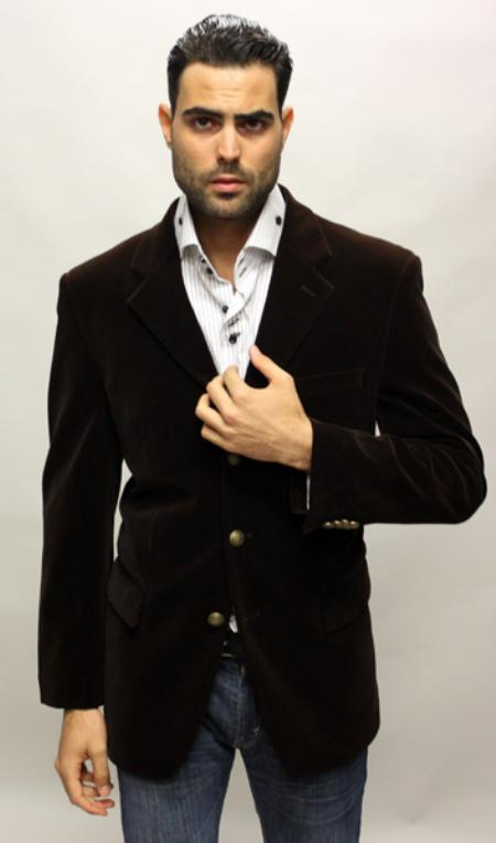 SKU#FL6088 Palace Color Brown Sport Coat Feel Very Nice For All Occasion $89