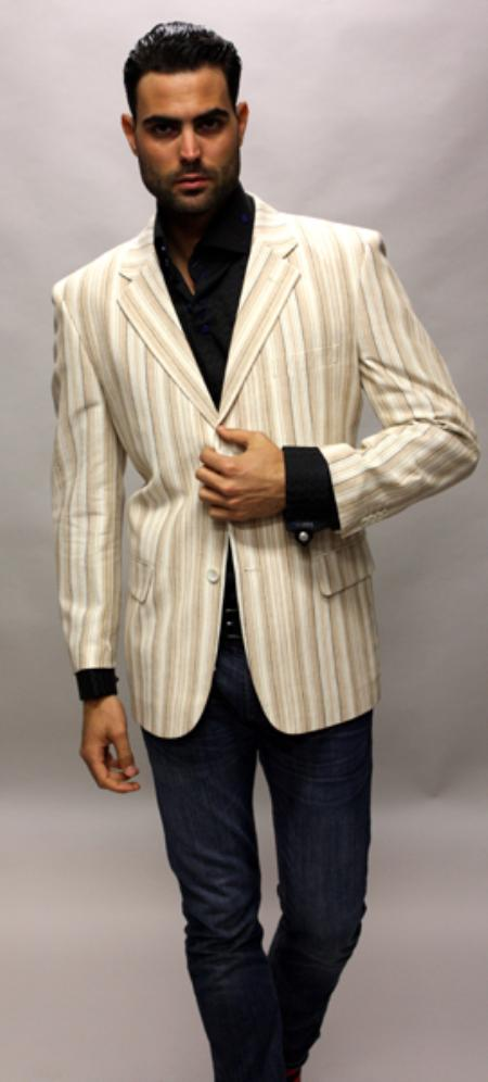 SKU#CS2310 Bronze 100% Linen Sport Coat 2 Button a Must Have Jacket $89