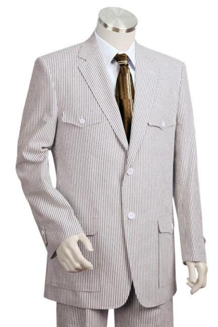 SKU#NY4200 Mens Fashion Seersucker Suit in Soft 100% Cotton Blue $185
