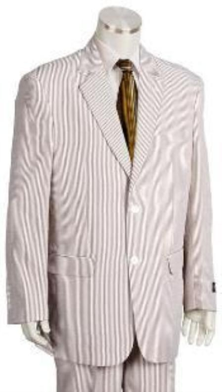 SKU#YF9420 Fashion 3 Piece Seersucker Suit Available in Mens and Boys Size $175