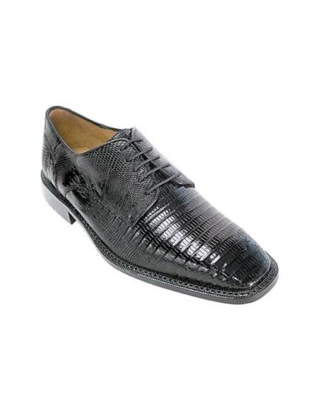 SKU#EF7860 Men's Belvedere Black Genuine Lizard