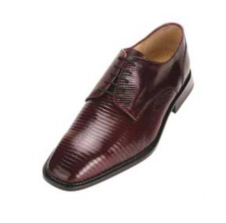SKU#VT6739 Men's Belvedere Burgundy ~ Maroon ~ Wine Color Genuine Lizard $305