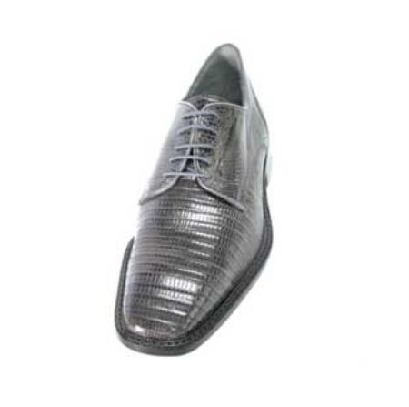 SKU#HT3920 Men's Belvedere Grey Genuine Lizard $305