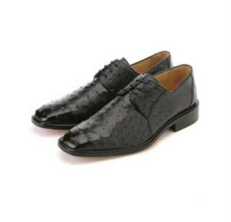 MensUSA.com Belvedere Mens Black Genuine Ostrich(Exchange only policy) at Sears.com