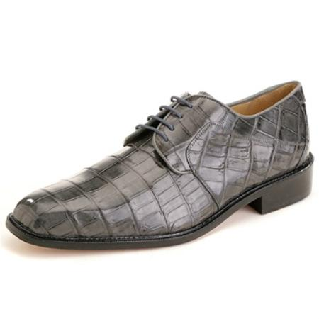 SKU#TH7856 Belvedere Men's Grey Nile Crocodile $579