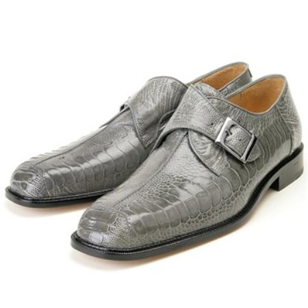 SKU#TE8760 Men's Belvedere Grey Genuine Ostrich $300