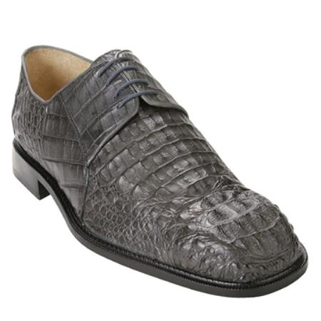 SKU#HZ8960 Belvedere Men's Grey Genuine caiman ~ alligator $455