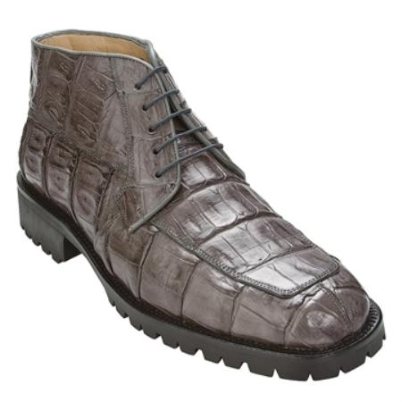 SKU#JN7640 Belvedere Men's Grey Genuine Crocodile $375