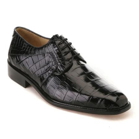 MensUSA.com Belvedere Mens Black Nile Crocodile(Exchange only policy) at Sears.com