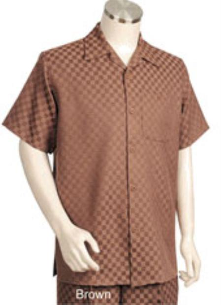 1940s Style Mens Shirts Mens Short Sleeve 2piece Walking Suit $89.00 AT vintagedancer.com