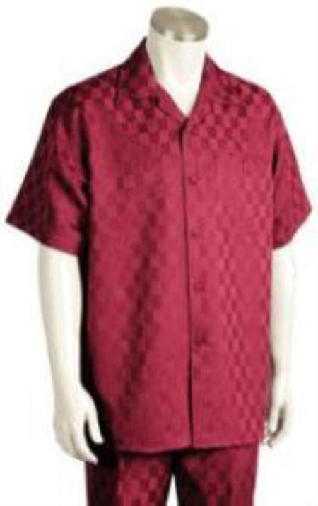 Mens Short Sleeve 2piece Walking Suit