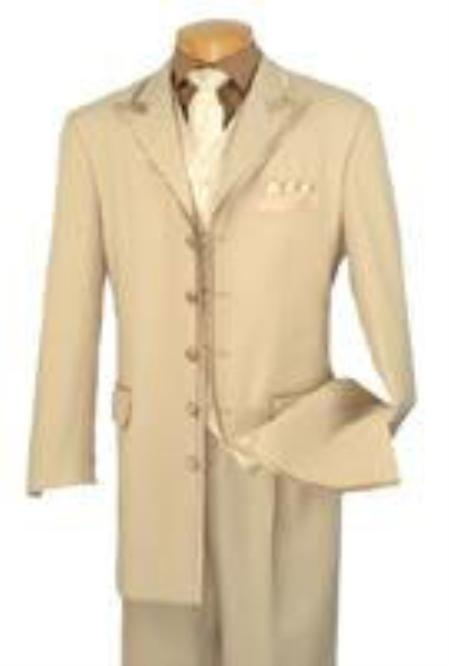 SKU#KA8803 	Mens Suits 5 Button White Suit $175