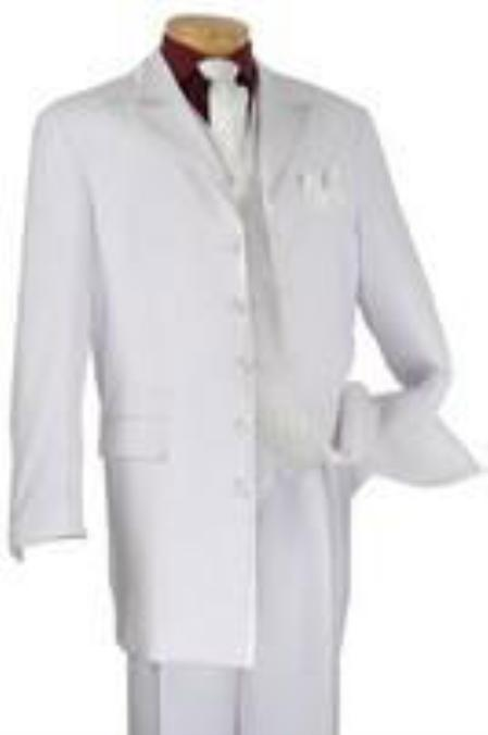 SKU#KA8700  	Mens Suits 5 Button White Suit $175
