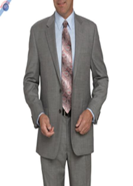 SKU#KA8871 Single Breasted Two Button Black Or White Pattern Suit $205
