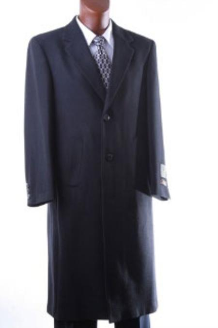 Men's Vintage Style Coats and Jackets Mens Luxury Wool Hand Tailored Full Length Topcoat $185.00 AT vintagedancer.com