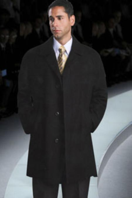 MensUSA.com Mens Luxury Wool Hand Tailored 3 4 Length Topcoat Style(Exchange only policy) at Sears.com