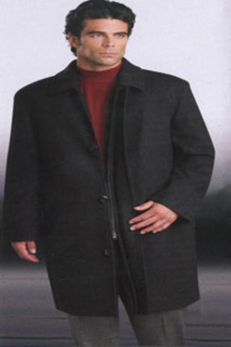 Mens Luxury Wool Zippered